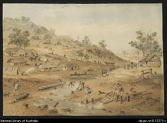 File:S.T. Gill, Diggings in the Mount Alexander district of Victoria in 1852.jpg