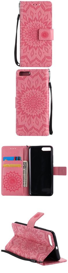 Sun Flower Printing Design Pu Leather Flip Wallet Lanyard Protective Case for Xiaomi Mi6 -$5.08
