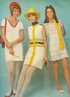Crochet inspiration. @woolandthegang1970's Crochet Fashion. The yellow and white crochet is dreamy!