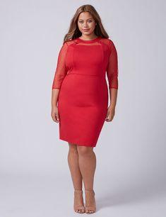 24514b98c1776 Lane Bryant Point D'Esprit Sheath Dress Lane Bryant, Plus Size Dresses, Plus