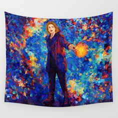 Beautiful 13th Doctor abstract art Wall Tapestry @pointsalestore #society6 #walltapestry #Painting #Digital #Oil #Watercolor #Streetart #Tardis #Doctorwho #Birthday #Jodiewhittaker  #Halloween #Vangogh #Starrynight #Abstract #Comic #Christmas #Science #Scifi #Cyberman #Dalek #Xmas #christmas