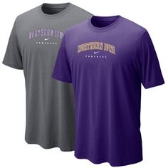 Nike purple or onyx heather dri-fit t-shirt with Northern Iowa Panthers. $29.99