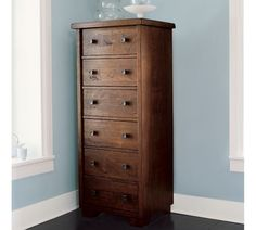 love this dresser + wall color :: pottery barn
