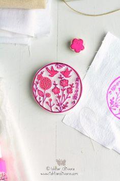 crafts - stamp - stempel - roze