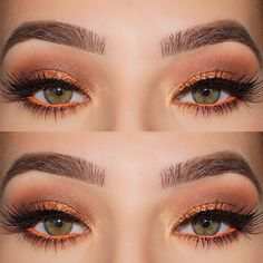 Love the pop of colour this bright bold orange gives, this eye look will look great on any complexion but I think it will suit darker skin tones the best