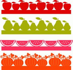 fruit borders set ------------------------I think I'm in love with this shape from the Silhouette Online Store!