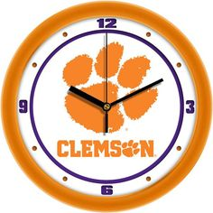 Mens Clemson Tigers - Traditional Wall Clock