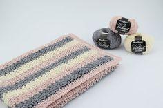 Hæklet Babytæppe - Velvet/velour - Tante tråd