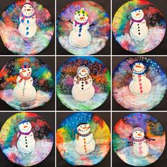 Christmas Art Projects, Winter Art Projects, Winter Crafts For Kids, Art For Kids, Classroom Art Projects, School Art Projects, Art Classroom, Kindergarten Art Lessons, Art Lessons Elementary