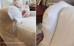 I recently got hooked on 12 oz. Brazil linen while making a very detailed, traditional sofa slipcover for a customer. As I was working with this beautiful linen I wondered how it would look in a si… Wingback Chair Slipcovers, Custom Slipcovers, Furniture Slipcovers, Upholstered Arm Chair, Furniture Covers, Traditional Sofa, Painted Furniture, Loose Fit, Easy