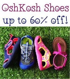 OshKosh Shoes and Sandals for Kids ~ up to 60% off!  #shoes