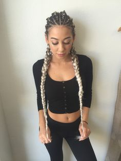 Cornrows | Braids | Feed-in Braids | Braids with Extensions | IG: @hairbymadimo