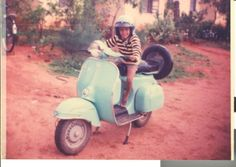 Bajaj Chetak - that's me on the scooter. These were everywhere when we grew up in India. Now, phased out Best Scooter, Scooter Girl, Scooter Parts, Feet Care, Vespa, Yamaha, Growing Up, Honda, Knots Landing
