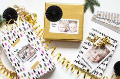 Geschenke mit persönlichen Grußkarten verpacken. So schön.