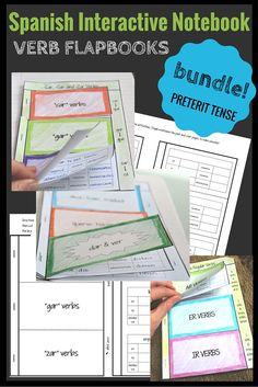 Help your student record and organize preterit verbs with this interactive notebooks flapbook bundle. Includes regular and irregular verbs (organized as the FUJI verbs) and -car, -gar, -zar verbs.