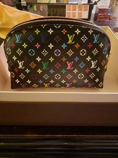 96a7b462d0f4 Louis Vuitton Monogram Multicolore Noir Cosmetic Case