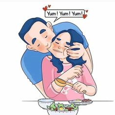Artist Depicts Her Relationship With Her Boyfriend In 31 Illustrations Love Cartoon Couple, Cute Couple Comics, Couples Comics, Cute Couple Art, Cute Comics, Anime Couples, Relationship Comics, Cute Relationship Goals, Cute Relationships