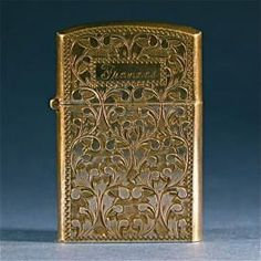 Antique Silver Engraved Cigarette Fire Lighter Jewelry Accessory