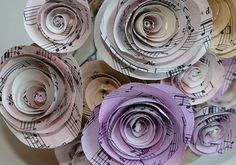 Wedding Bouquetcenterpice  Flowers paper flowers 10 Music by jbart