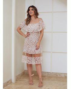 Midi @loubucca ♥️ Vestido de renda com transparência, coleção nova da marca!!