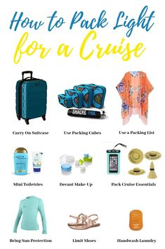 Want to know how to pack light for a cruise? Packing light for cruise travel can be done. Here are our best tips for packing light for a cruise! Honeymoon Cruise, Bahamas Cruise, Cruise Travel, Cruise Vacation, Vacation Packing, Baja Cruise, Vacations, Travel Packing, Packing List For Cruise