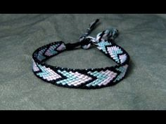 ► Friendship Bracelet Tutorial - Beginner - Bordered Chevron - YouTube