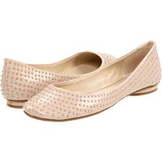 In the search for red flats, I've fallen for these nude studded ones. Lovely You by Nine West, $79 at Zappos.