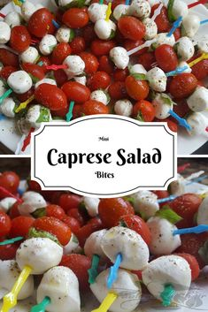 Mini Caprese Salad Bites (Keto Friendly) - Table and a Chair Keto Friendly Desserts, Low Carb Desserts, Low Carb Recipes, Snack Recipes, Healthy Recipes, Diabetic Friendly, Drink Recipes, Healthy Snacks, Quick And Easy Appetizers