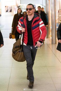 Michael Fassbender. Berlin. Airport. 3/3/2018.