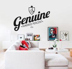 GENUINE http://www.myvinilo.com/vinilos-decorativos-textos/genuine.html 100% único y genuíno. Vinilos decorativos, hogar, decoración, interiores, pared, diseño, wall decals, stickers, decoration, design, poetry, poesia, words, palabras, frases, dichos.