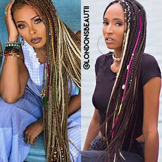 Eva Marcille Inspired braids- so beautiful Box Braids Hairstyles, Feathered Hairstyles, Dope Hairstyles, Summer Hairstyles, Pretty Braids, Beautiful Braids, Black Girls Hairstyles, African Hairstyles, Dreads