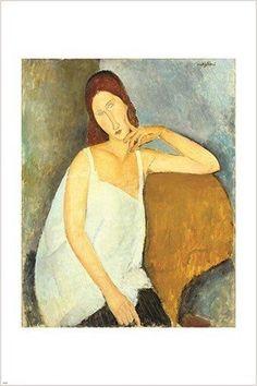 jeanne hebuterne AMEDEO MODIGLIANI classic painting ART POSTER 24X36 modern
