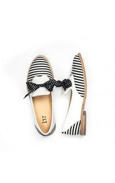 #mostrami #fashion #shoes #stripes #loft37 #bow #lovely #black #white