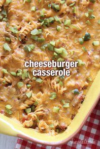 Healthy Cheeseburger Casserole