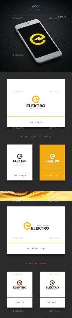 Elektro — Vector EPS #circle #company • Available here → https://graphicriver.net/item/elektro/13819052?ref=pxcr