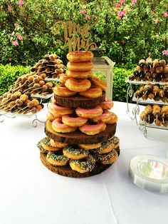 Sydney & Andrews Donut Wedding Cake from their Brunch Wedding