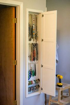 Hidden Jewlery Storage...put A Mirror On Door