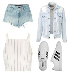"""""""It's just a classic look"""" by stowies74 on Polyvore featuring Topshop, T By Alexander Wang and adidas"""
