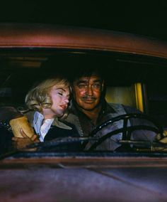 "November 4, 1960, the final scene of ""The Misfits"" is filmed  ""How do you find your way back in the dark?""  ""Just head for that big star straight on. The highway's under it, it'll take us right home.""  It would be both Marilyn Monroe and Clark Gable's final completed film."