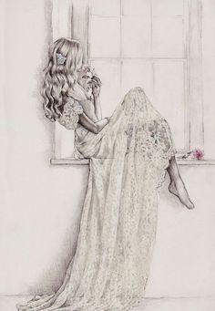 Bridal fashion illustration on Artluxe Designs. #artluxedesigns