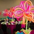 Neon Loopy tabletopper, 4 1/2 ft