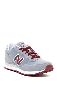 New Balance 501 Classic  Light Grey Burgundy New Balance 501, New Balance  Sneakers 2dd09f8dcbad