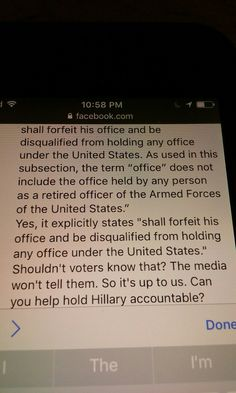 Hillary's criminal acts