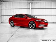 The serial version of a premium sedan Acura TLX 2018-2019