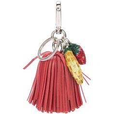 Altuzarra Ghianda Tassel Keychain ($119) ❤ liked on Polyvore featuring accessories, kirna zabete, kz red, kzloves /, leather tassel key ring, key chain rings, tassel key ring, keychain key ring and beaded key chains