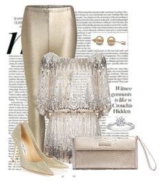 """""""Noite"""" by ebramos ❤ liked on Polyvore featuring Jimmy Choo"""
