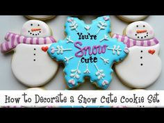 How to Decorate a Snow Cute Cookie Set - YouTube