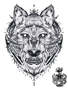 #tattoo #sketch #drawing #wolf #geometric #abstact #blackwork