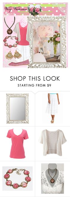 """Very Victorian"" by shell-moore ❤ liked on Polyvore featuring Pier 1 Imports, Laura Ashley, Kim Rogers, Simplex Apparel, WithChic, Adrienne Vittadini and Vintage Del Forte"