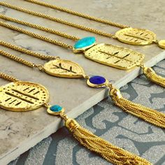 Azuni Jewellery Athena Necklaces With Tassels